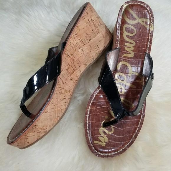 9d1ba1f442fc6c Sam Edelman Shoes - Sam Edelman Black Romy Cork Wedge Sandal